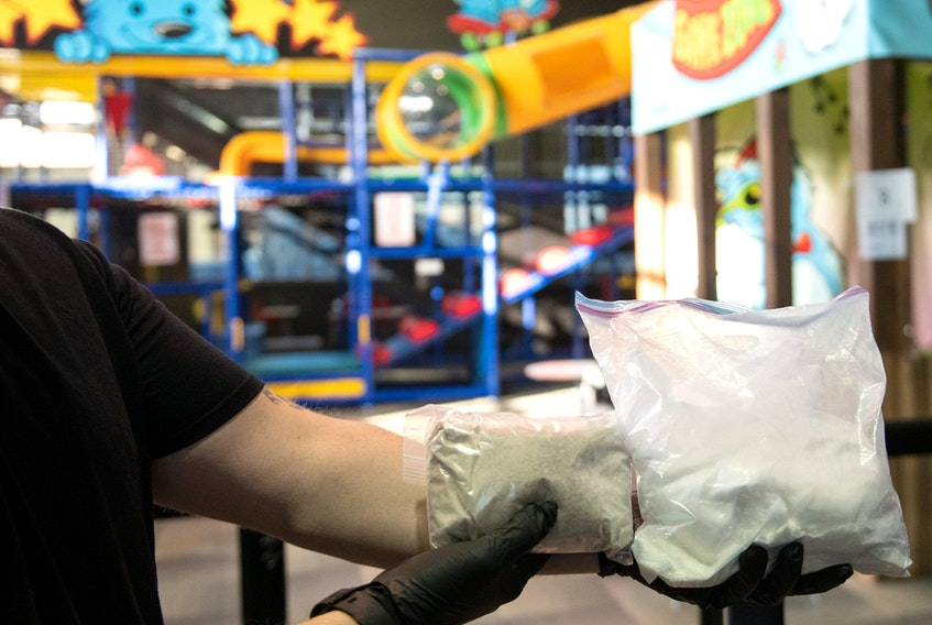 Police found kilos of heroin hidden in a children's indoor playground facility - Operation Cheetah
