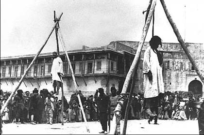 Armenians hanged in the street in Constantinople   Armenian Genocide   NewsComWorld.com