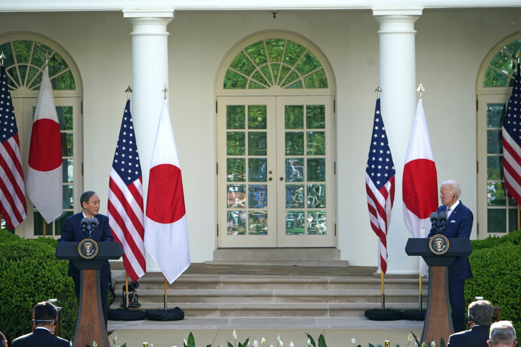 Chinas New Focus is Japan - Strategic Shift or Desperate Search for a Winnable Front - Suga-Biden Joint press conference on 16-April 2021.