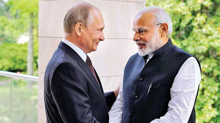 Russia as always is a reliable partner for India - Indian Prime Minister Narendra Modi with Russian President Vladimir Putin | NewsComWorld.com