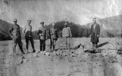 The German and Turkish officers posing to take photographs with skulls of the Armenian victims   Armenian Genocide   NewsComWorld.com