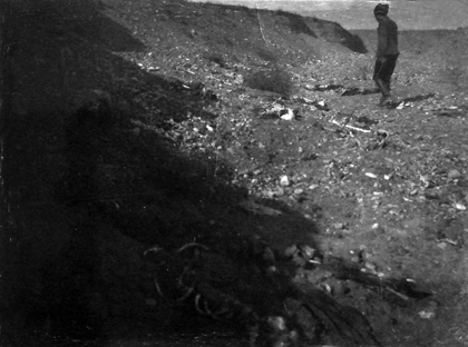 The remains of Armenian victims in a channel near Yerznka   Armenian Genocide   NewsComWorld.com