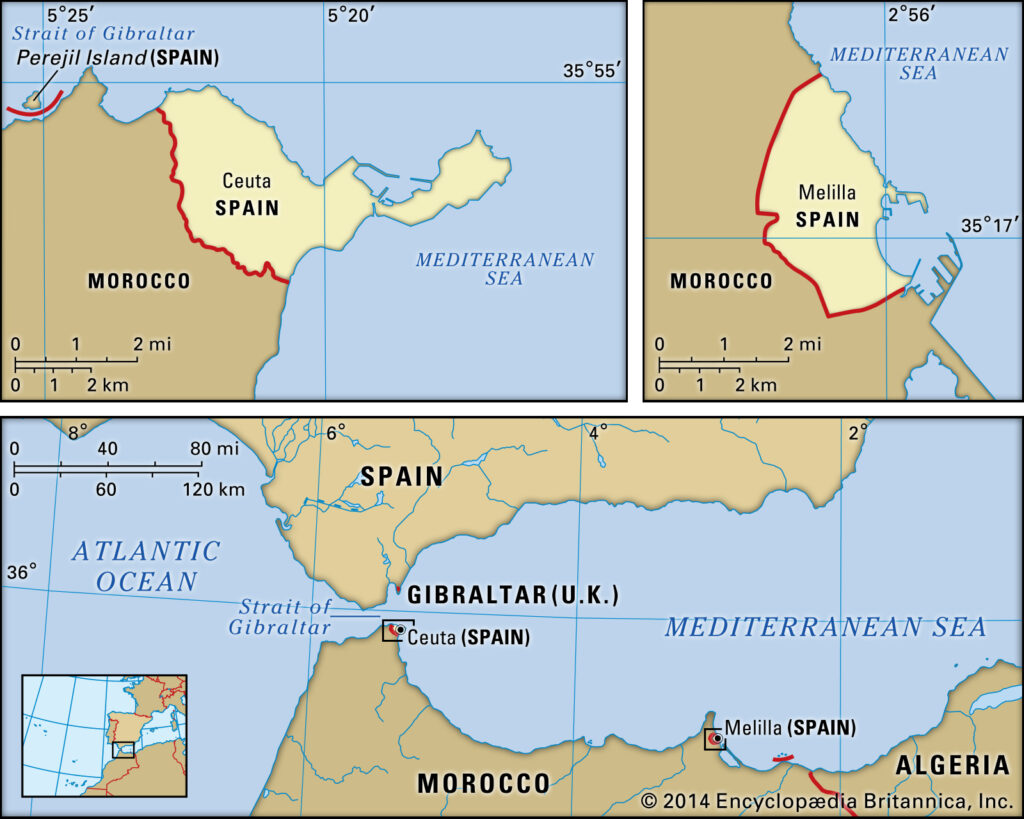 Location of French Enclaves of Ceuta and Melilla on Boundaries of Islamic Nation of Morocco | NewsComWorld.com