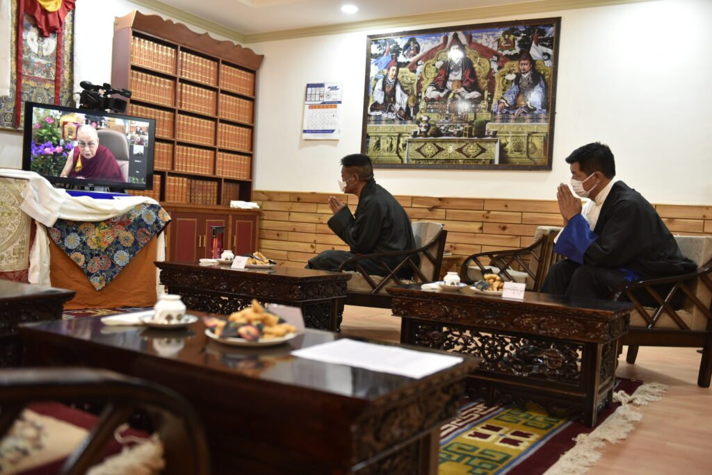 Penpa Tsering Sworn in as the President of the Tibetan Government in-Exile - His Holiness the Dalai Lama virtually addresses the newly sworn-in and former Sikyong at the ceremony.  | NewsComWorld.com