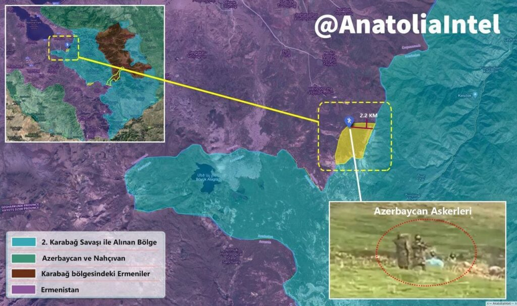 Tensions Rise As Azerbaijani Troops Intrude Into Armenian Territory - Map published by Turkish Media