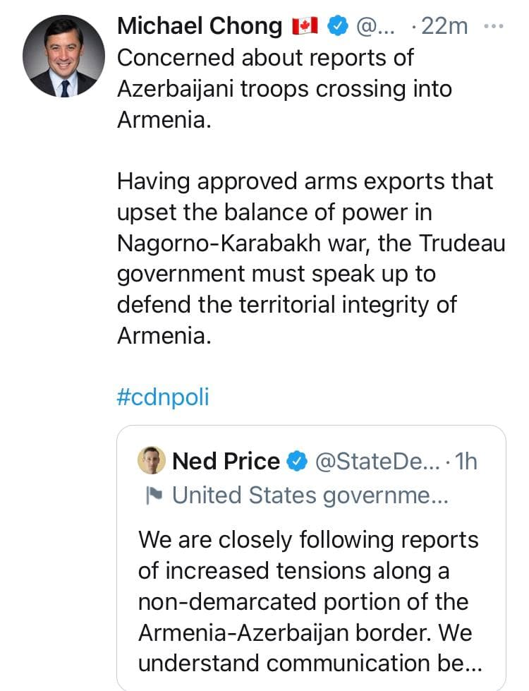 Worldwide support coming to defend the territorial integrity of Armenia