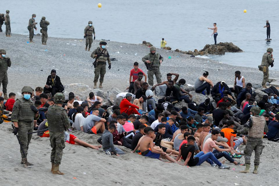 """Spain Deployed troops as Islamic Nation Morocco Sends 8000 Illegal Migrants into Spain's Ceuta Enclave as """"Consequences"""" 