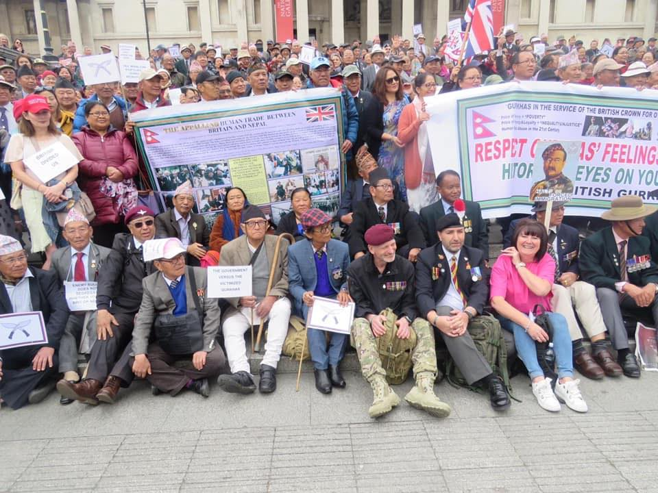 Former British Gurkha Veterans Sit On Relay Hunger Strike In London On Demands For Compensation And Pension Parity | NewsComWorld.com